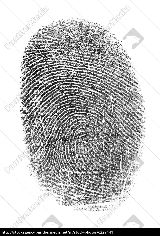 Verschiedene Bild Fingerabdruck Ideen Von Lizenzfreies 6229441 - Schwarzer Auf Weißem