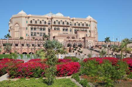 der emirat palast in abu dhabi