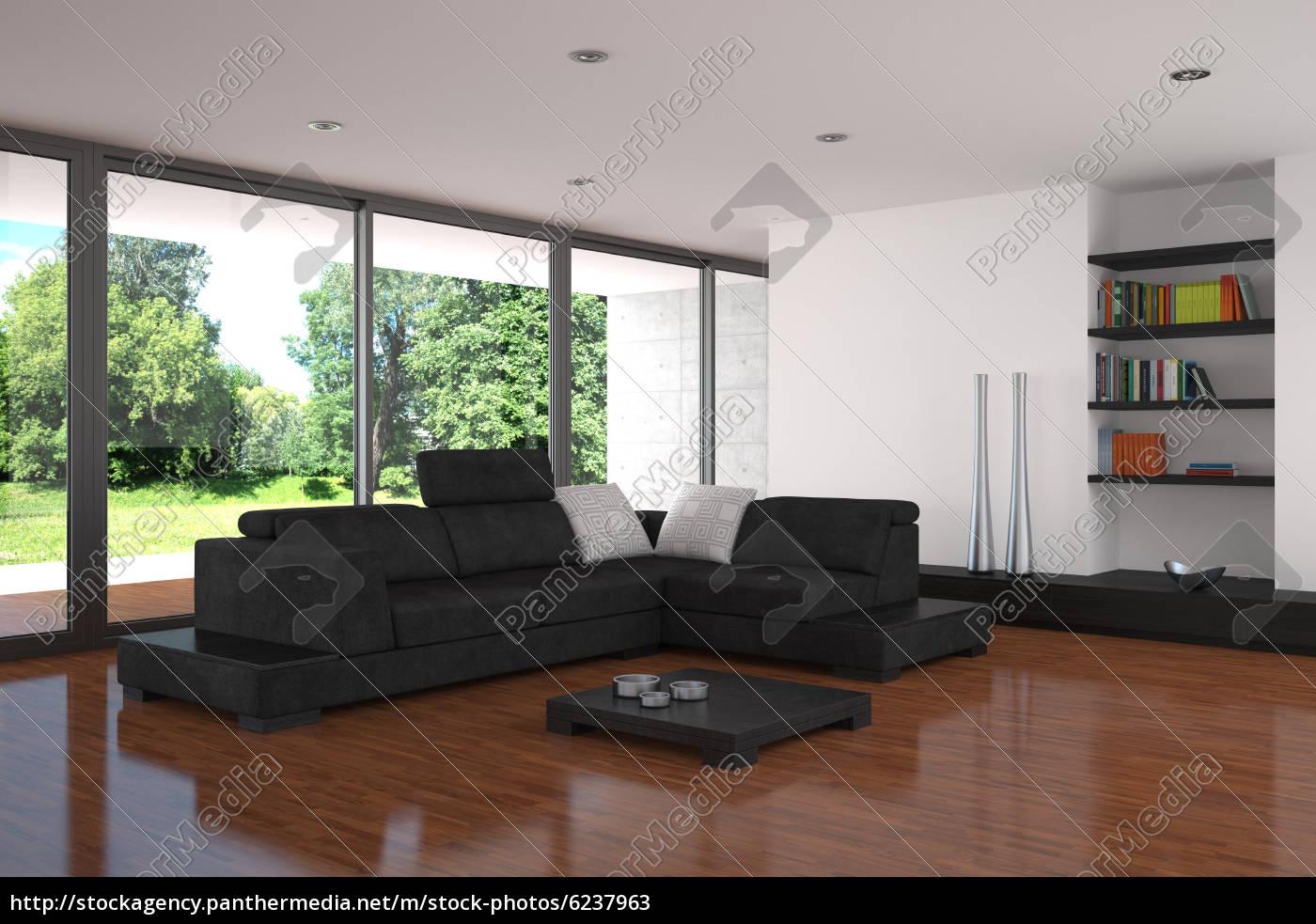 Stockfoto 6237963 - moderne wohnzimmer mit parkettboden