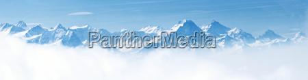 panorama von schnee berg landschaft alpen