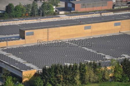 solarzellen auf einem dach