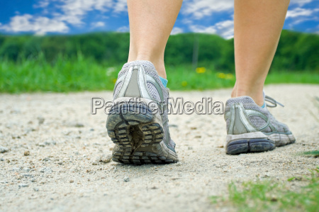 walking exercise in summer