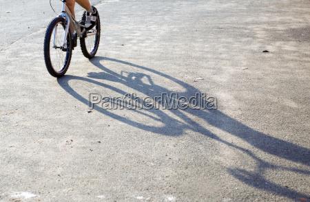 boy riding on mountain bike