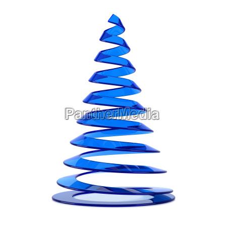 stilisierten weihnachtsbaum in blauen glas