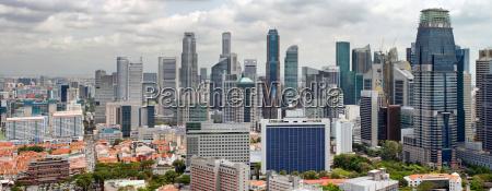 singapur stadtbild mit central business district