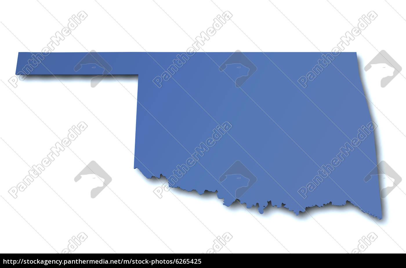 Stockfoto 6265425 - Karte von Oklahoma USA