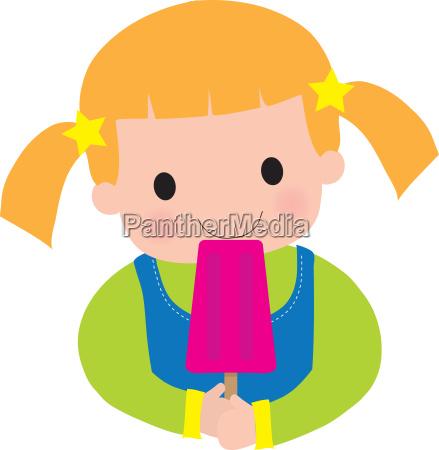 little girl popsicle