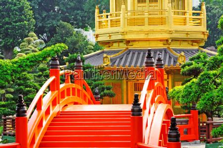 oriental golden pavilion of chi lin