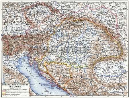 karte der oesterreichisch ungarischen monarchie