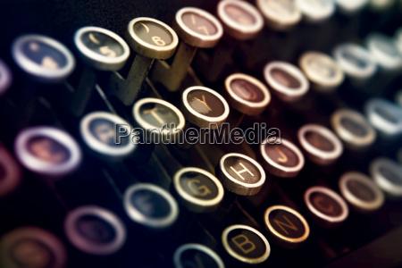 schreibmaschine tastatur