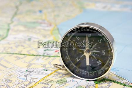 kompass, auf, dublin, stadtplan - 6316501