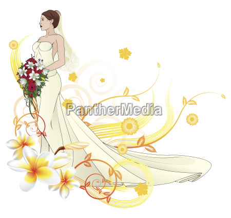 bride beautiful wedding dress floral