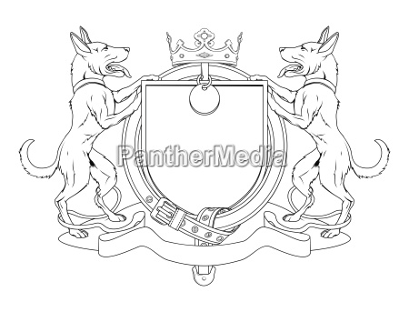 hund haustiere heraldischen schild wappen