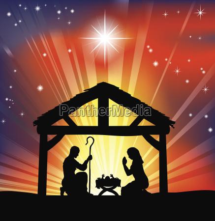 traditionelle christlichen weihnachtskrippe