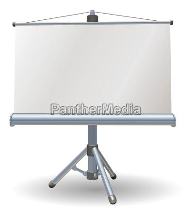 blank presentation or projector roller screen