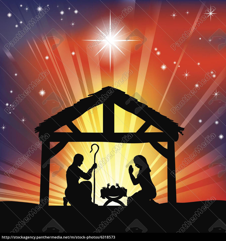 traditionelle, christlichen, weihnachtskrippe - 6318573