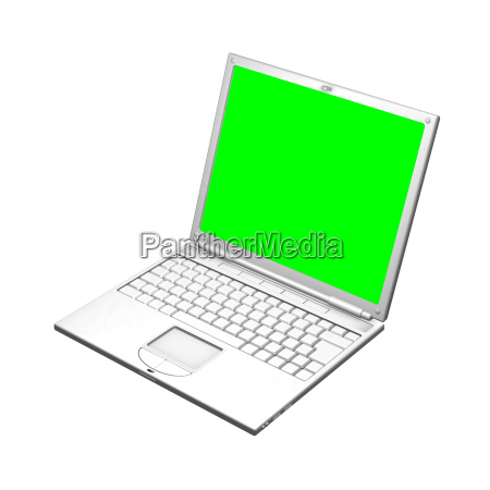 illustration of an open laptop computer