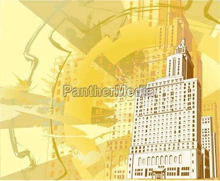 urban building background