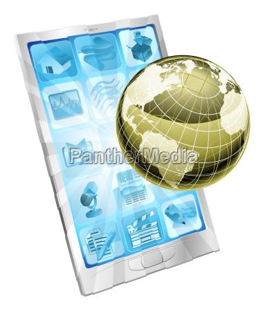 handy-globe-konzept - 6324879