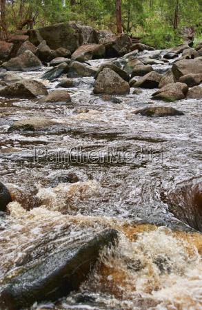 rushing water in river