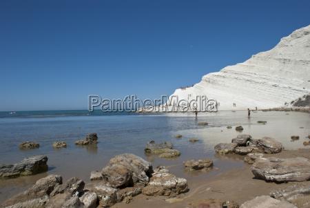 treppe des tuerkischen strandes sizilien