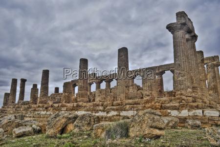 griechischen tempel von agrigento in hdr