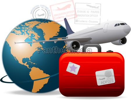 travel flugzeug konzept