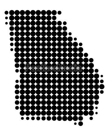 karte von georgia