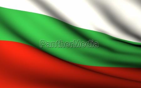 fliegende flagge von bulgarien alle laender