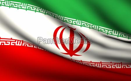 fliegende flagge des iran alle laender