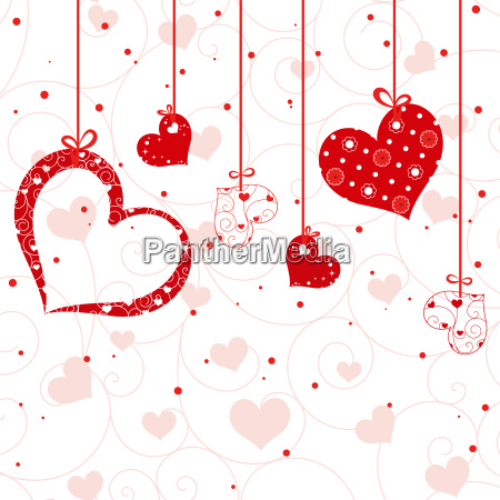 abstract st valentine greeting card