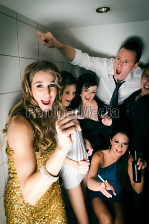 people celebrate in the club and
