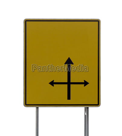 yellow direction sign