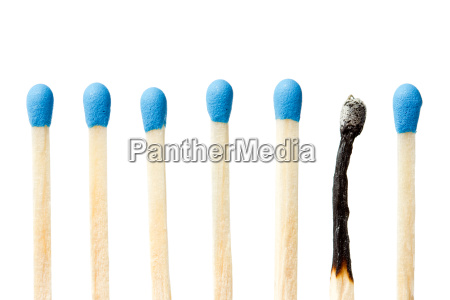gebrannte abgleichung und eine ganze blau
