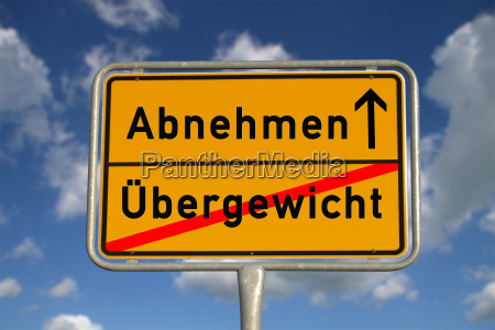 german town sign slimming overweight
