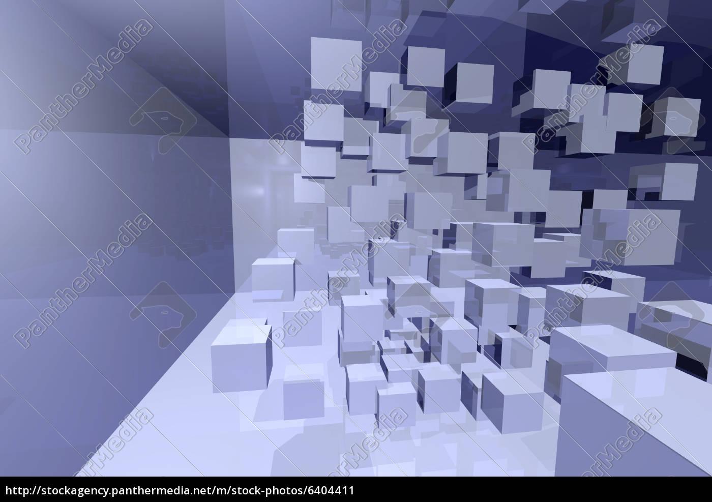 3d Würfel Im Gespiegelten Raum Komplexität Lizenzfreies Bild