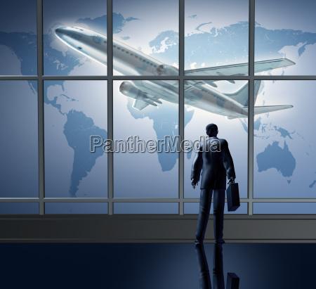 geschaeftsreisende international in der lounge