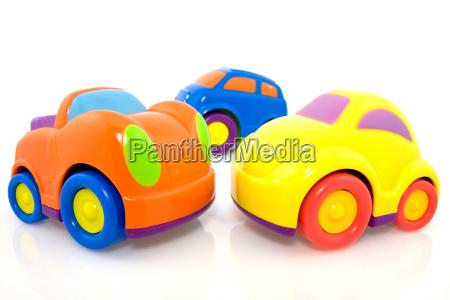 bunt gepolsterte autos