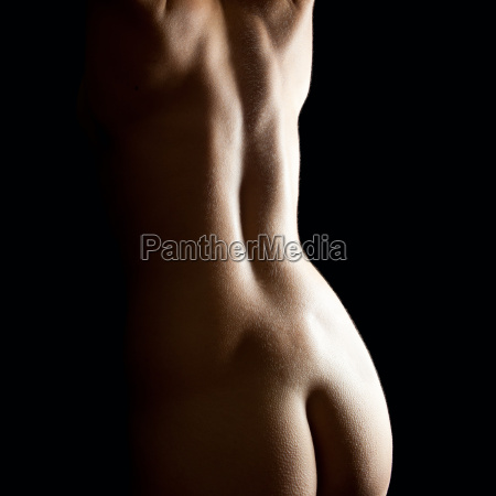 rear view of a beautiful naked