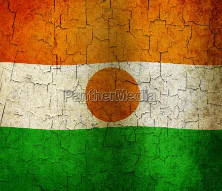 grunge niger flagge