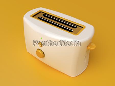 weisse elektrische toaster