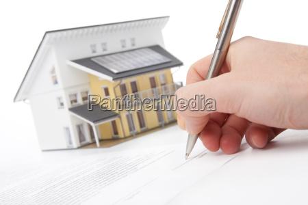 hypothek vertrag