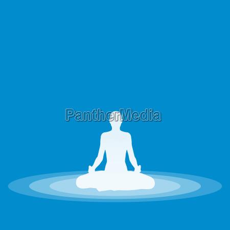 yoga pose symbol blau 02