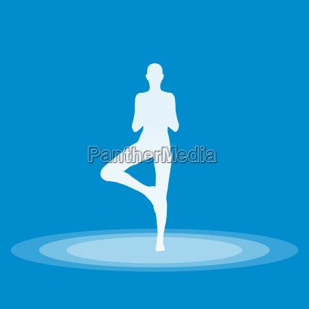 yoga pose symbol blau 03