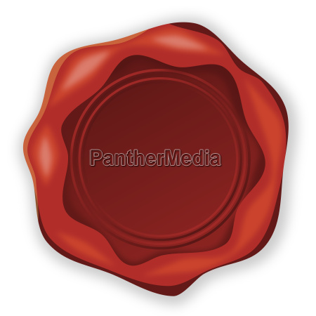 wax stamp in red