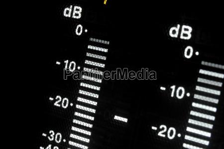 makroaufnahme anzeige des broadcast video player
