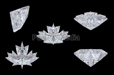 ansichten des maple leaf diamanten