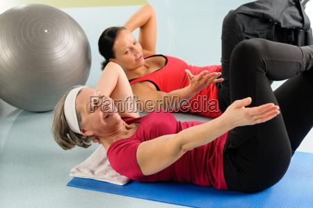 fitness center seniorensport fitness training