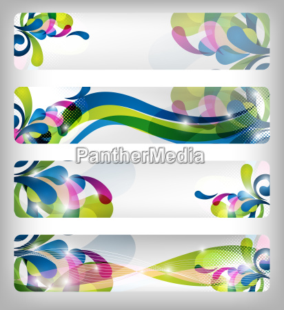 abstract colorful banner designs
