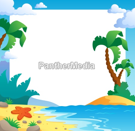 beach theme frame 1